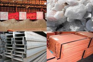 مواد اولیه سنگی، فلزی و غیر فلزی